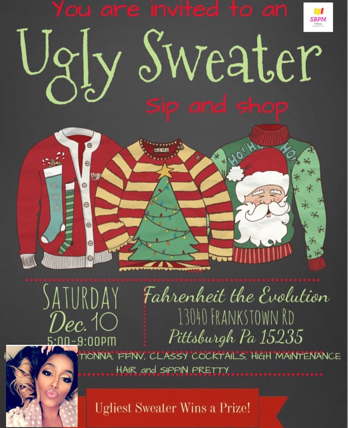 Ugly Sweater Sip & Shop, Christmas Party at Fahrenheit the Evolution