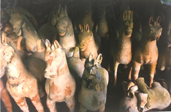 Lot of Han Terracotta Horses for Indoor Display
