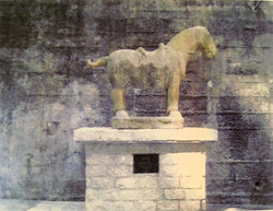 Standing Horse on top of structure