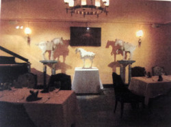 Pottery Horses display in the VIP Dining area