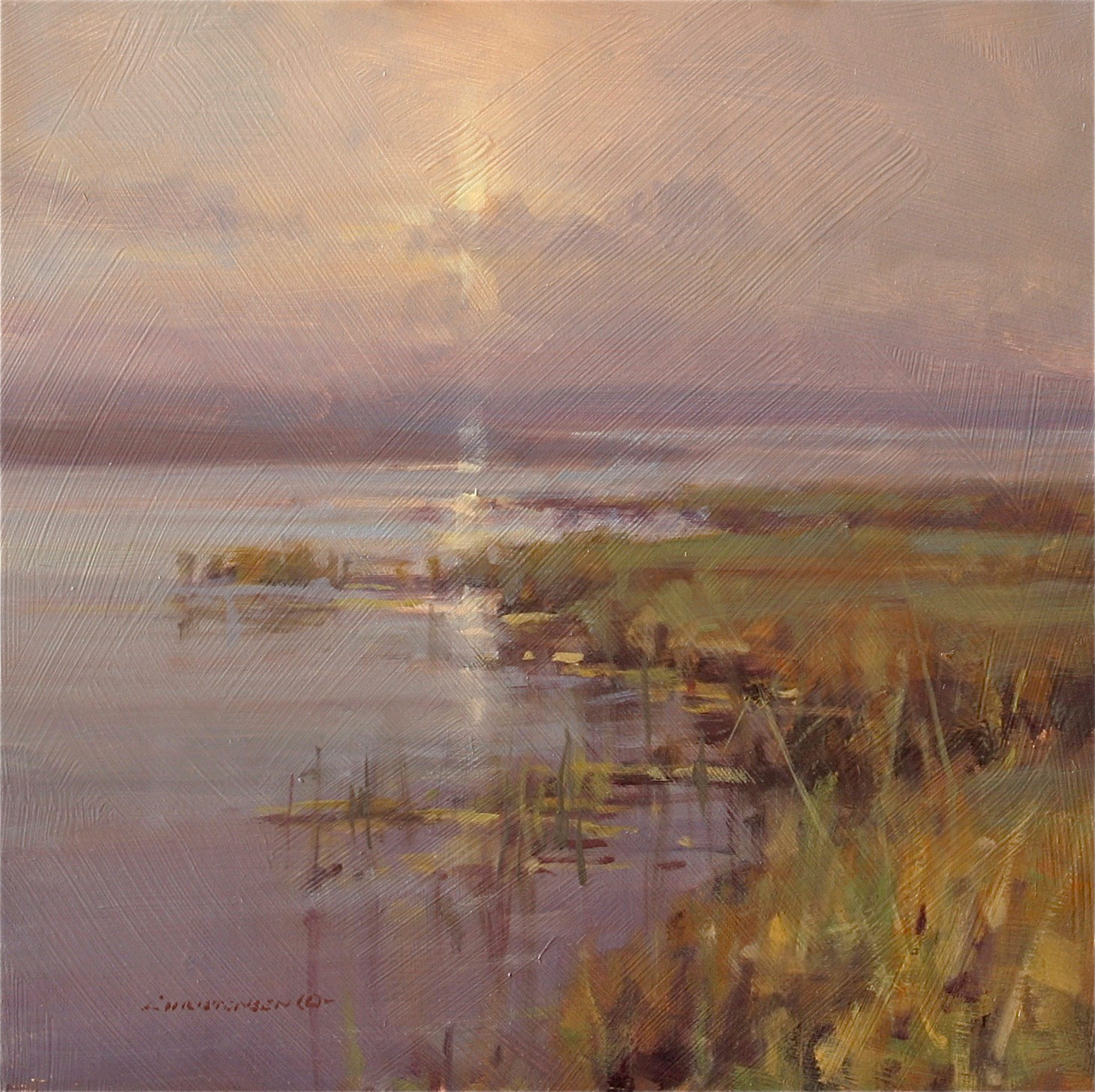 """Green Marsh"" by Scott Christensen"