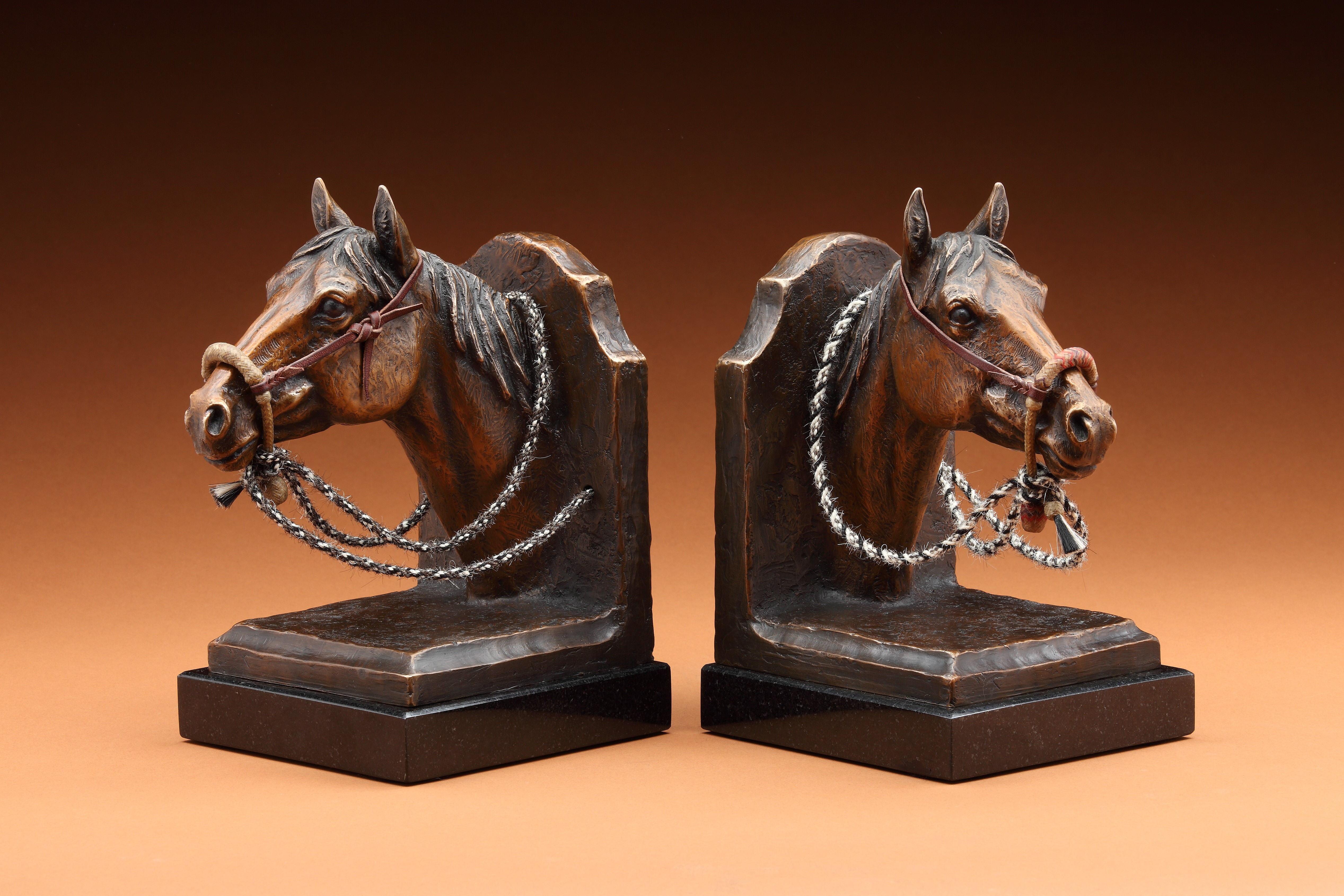 """Horse Head Bookends"" by J. Gilmore"