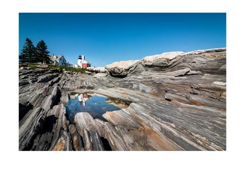 Maine Lighthouse Reflection