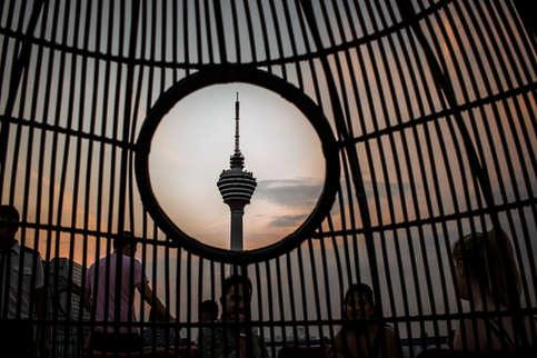 Kuala Lumpur sunset.