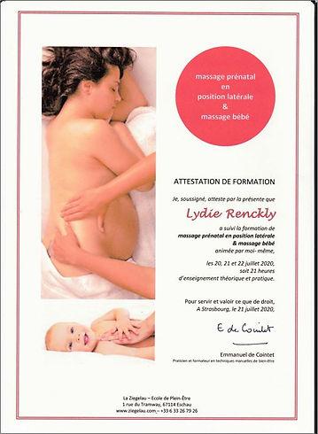 Massage prénatal et bébé