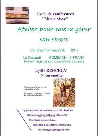 Atelier gestion du stress  6 mars 2020