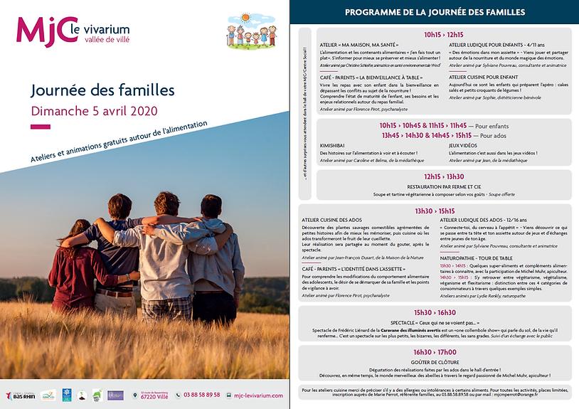 Journée des familles 5 avril 2020 MJC Bassemberg-Villé