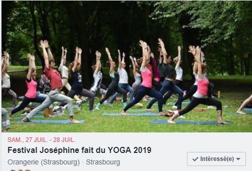Festival de Yoga Pavillon Joséphine Juillet 2019