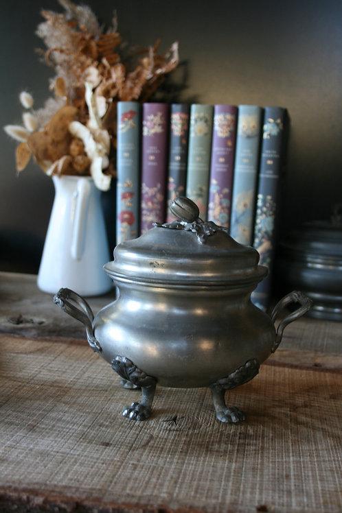 PUMPKIN - candela in Zuccheriera Extra Large Peltro