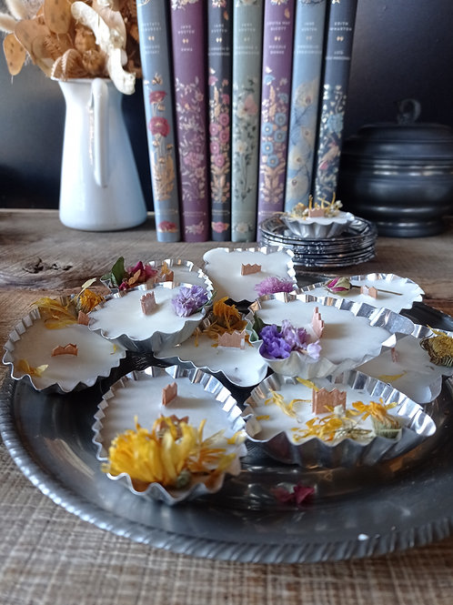 TEA LIGHT con PIATTINO  - candela in pirottino