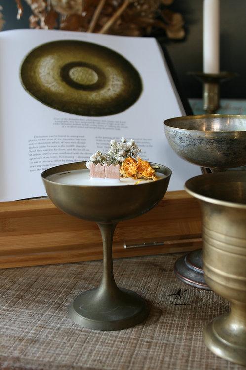 MEDEA  - candela in Calice liscio BASSO