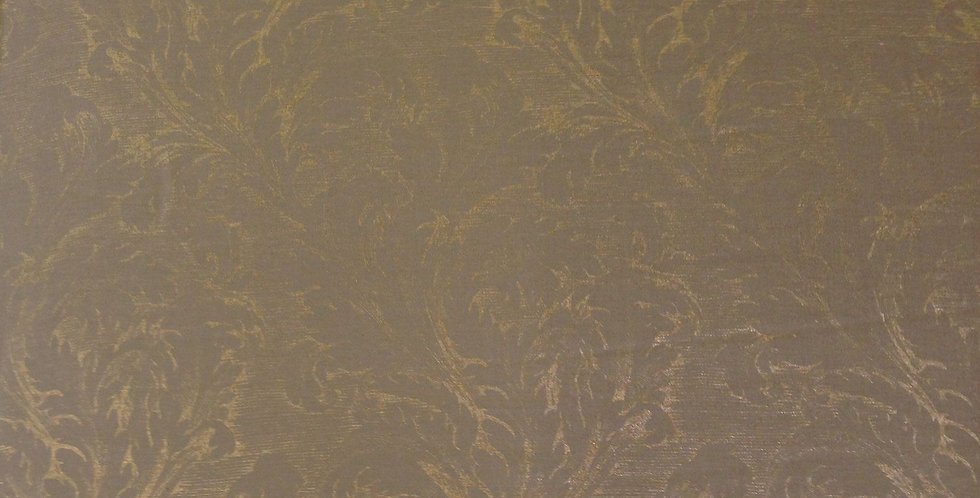 Linen Fabric- Soft Gold Damask