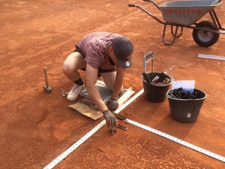 Tennisanlage weiter gesperrt! Die letzten Platzarbeiten haben begonnen!
