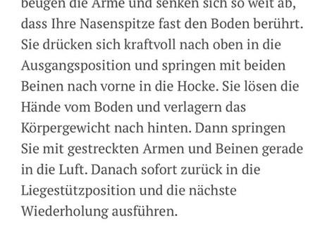 """Aktion """"Zu Hause fit bleiben"""" gestartet!"""