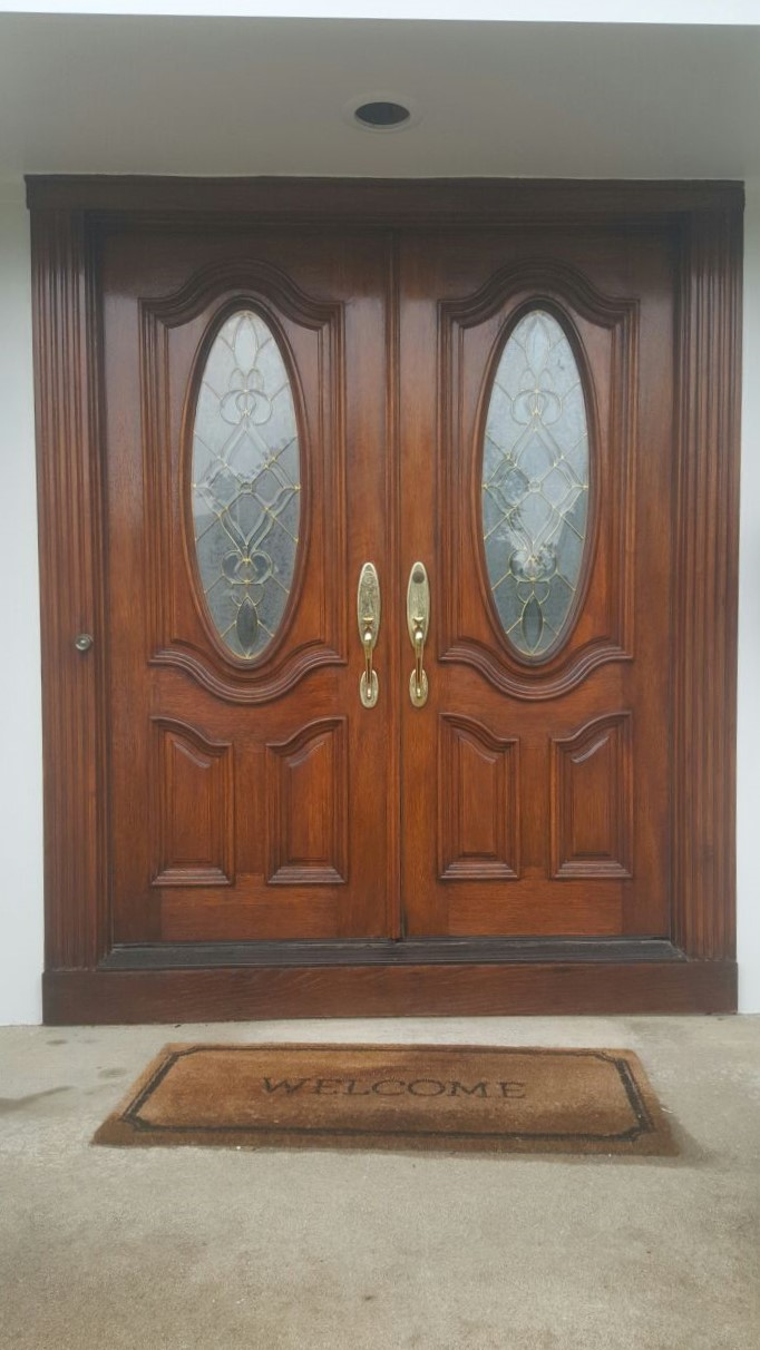 Front Door Staining1