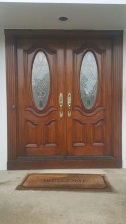 Front Door Staining1