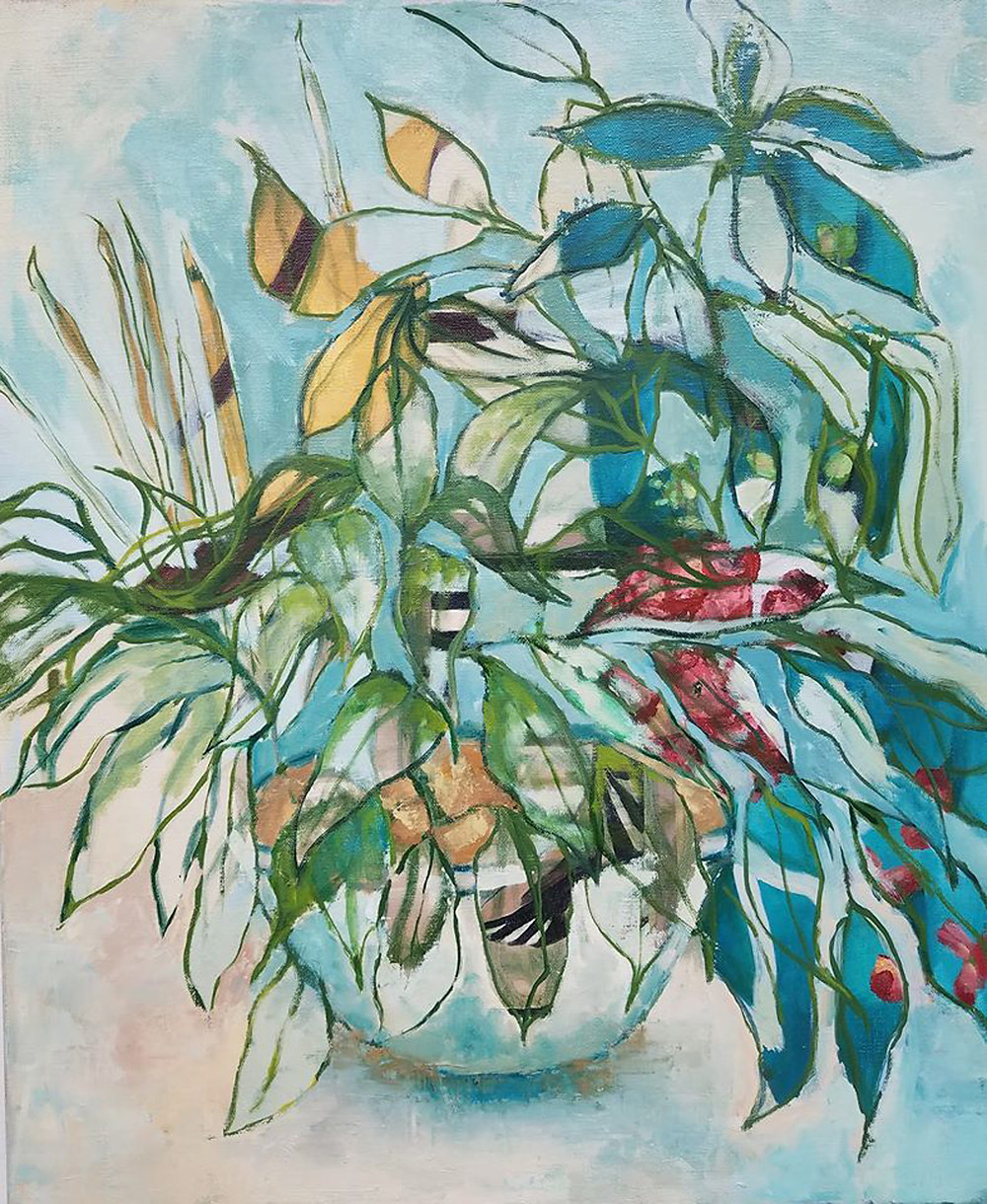 "Jacqueline Boyd, ""Searching for the Plant,"" 2019, oil on canvas."