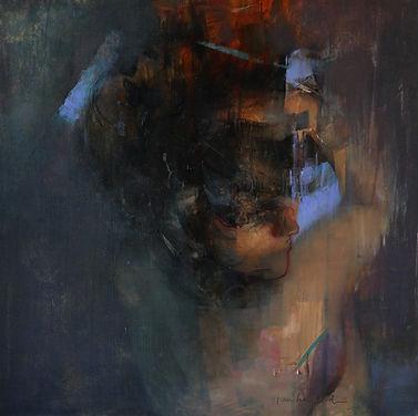 "Stanka Kordic painting titled ""Sleep of Dreams"""