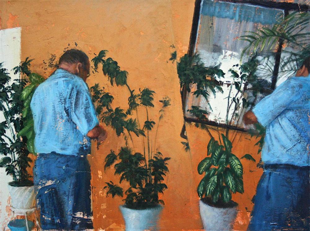 Grandpa with Plants