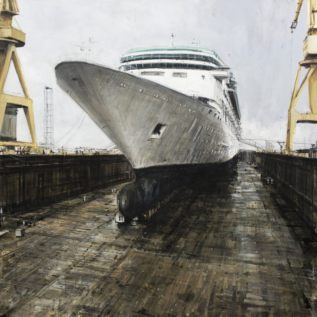Cruise Ship in Dry Dock