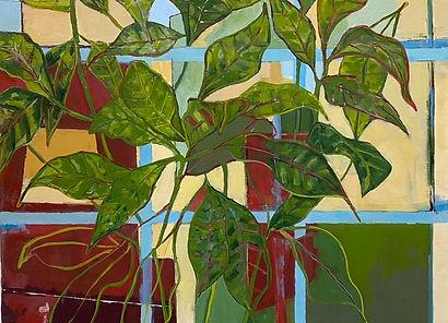 Plant and Studio Window 40x30 oil on canvas, 3500.jpg
