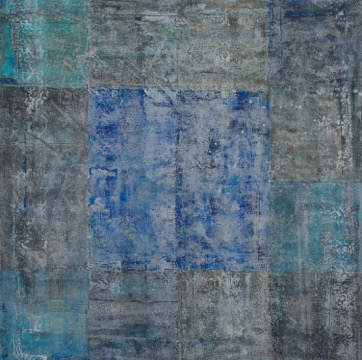 Blue Grids (Diptych)