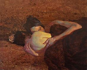 KDunn, Falling in, 22 x 26, oil on linen