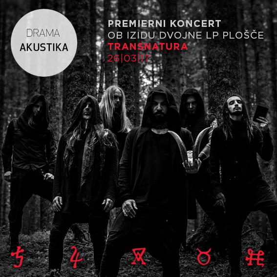 Double Transnatura LP release and concert in Slovenian National Theatre DRAMA on March 26th, 2017.