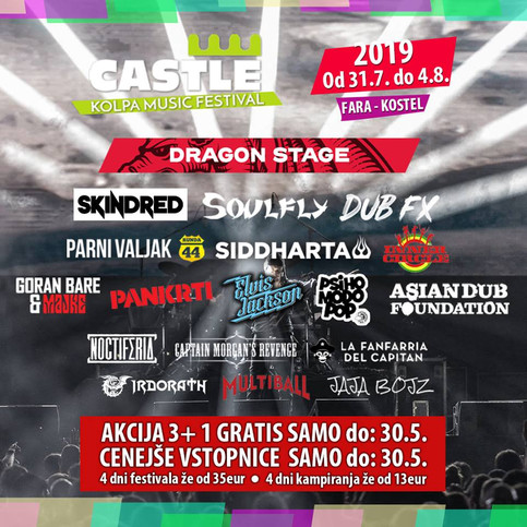 NOCTIFERIA to perform at Castle music festival with Skindred and Soulfly!