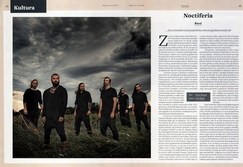 Noctiferia portrait @ MLADINA magazine