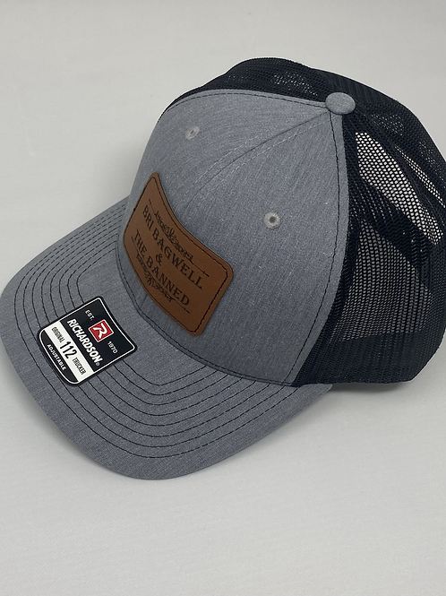 Leather Patch Gray/Black Hat