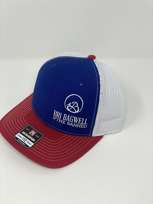 Red, White, and Blue Hat