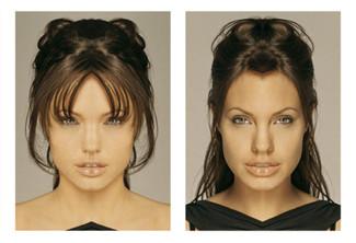 Макияж асимметричного лица