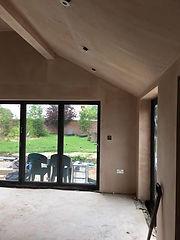 Extension plastering