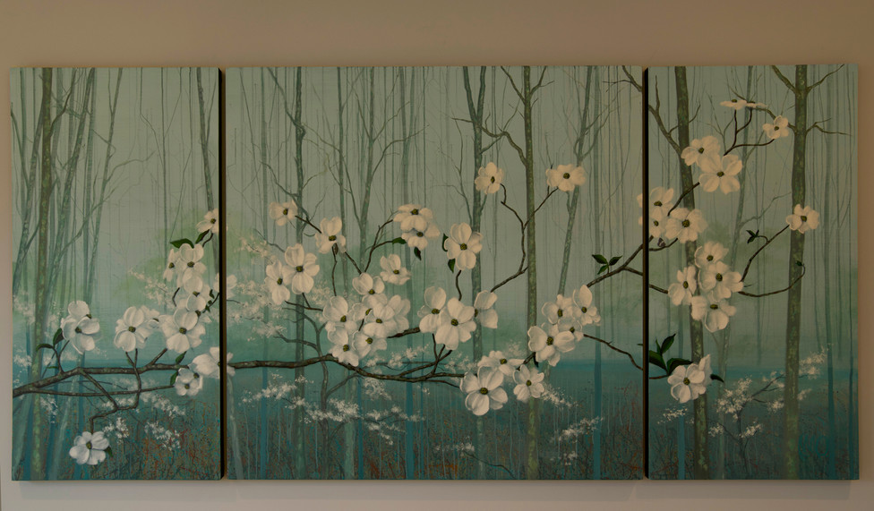 Dogwood Trees. Private Commission.