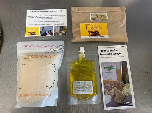 Large DIY bee wax wrap kit but with Beeswax Pastilles