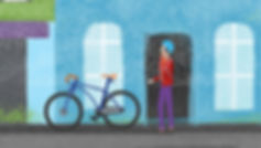 character animation, illustrator, illustration, Angela Gigica, motion designer, cyclist