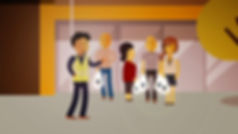 Animation, style frame, explainer, Angela Gigica, character animation, motion desing, shopping centre, people