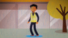 Animation, style frame, explainer, Angela Gigica, character animated, shopping centre, man crying