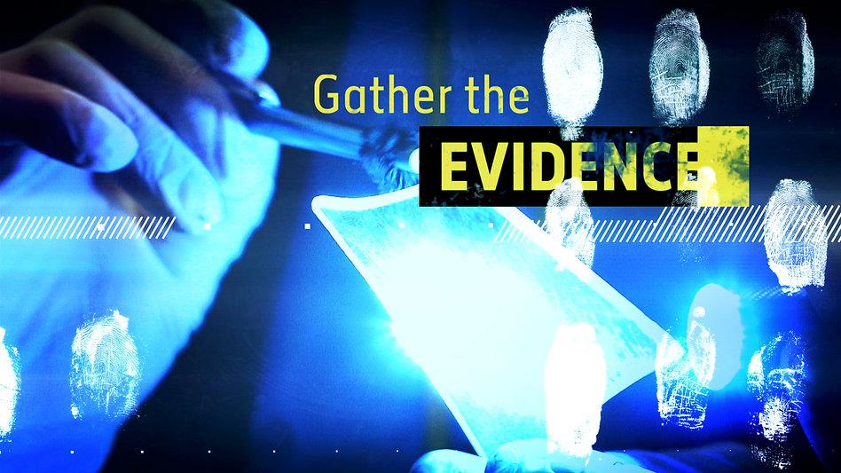 detective drama, evidence, motion design, title squence, motion designer