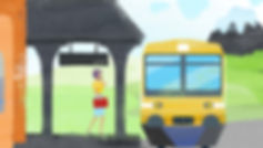 character animation, illustrator, illustration, Angela Gigica, motion designer, train station