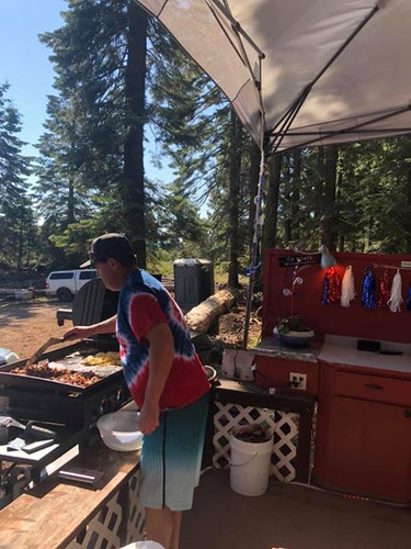 Joe BBQin food for the family on the 4th of july 2019