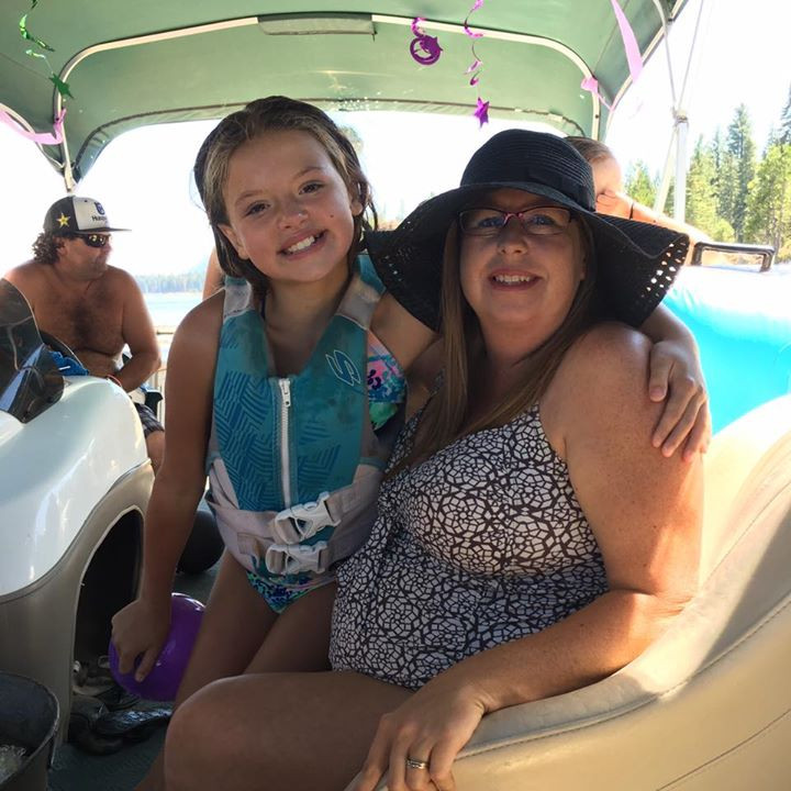 Teresa and genna enjoying being out on the lake.