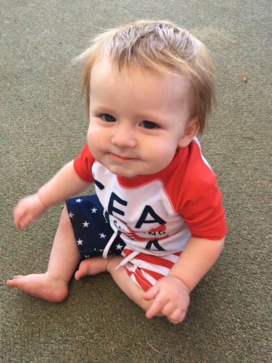 Whalen chillin on the deck in his 4th of july outfit