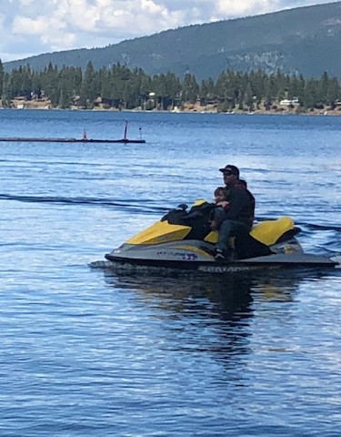 Joe and Whalen going to gas up a waverunner.