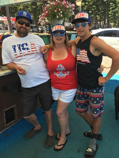 Joe and Teresa Majors with their son Mikey on the 4th of july 2017
