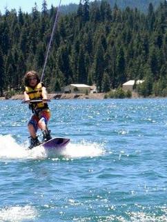Mikey Majors shredding it behind a ski boat.