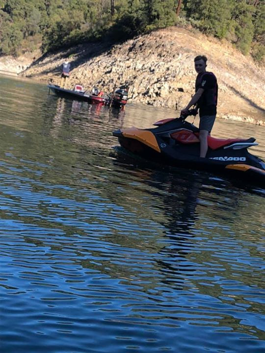 Colin on our spark trixx during our company trip to lake shasta