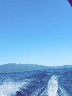 Veiw looking from our malibu here on lake almanor