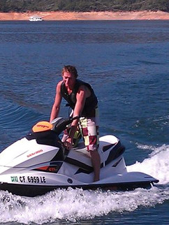 Jared taking out the Seadoo for a ride.